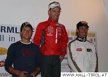 Die Sieger: David Kreiner, Markus Kröll und Christoph Bieler