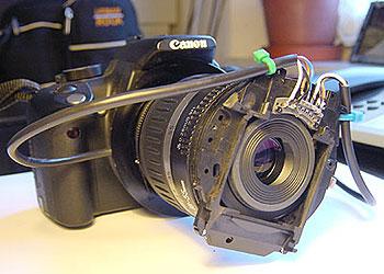 Canon EOS 350 / 400 mit Retroadapter