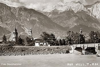 Alte Aufnahme von Hall in Tirol